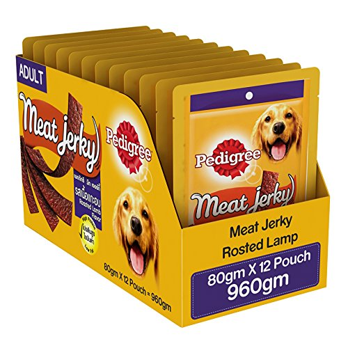 Pedigree Dog Treats Meat Jerky Stix, Lamb, 960g (Pack of 12)