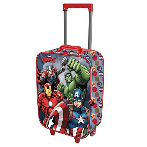 Karactermania The Avengers Force-Soft 3D Trolley-Koffer Valigia per bambini, 52 cm, 23 liters,...