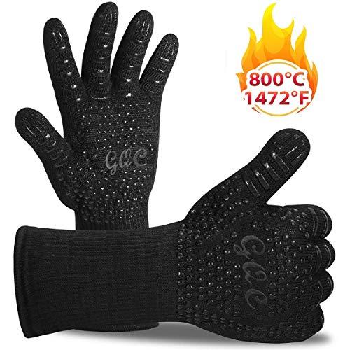 GQC Guanti da Forno, BBQ Guanti da Cucina con Resistenza al Calore Fino a 1432 ° F/800°C, con...