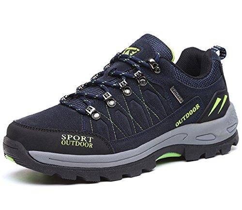 NEOKER Zapatos de Trekking y Senderismo para Hombre Mujer Deportes Exterior Boats Escalada Sneakers Azul 43
