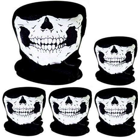 5-Pices-Masque-de-Crne-Masque-de-Visage-de-Crne-Vlo-Moto-Masque-Squelette-Demi-Visage-Chapeau-de-Sport-en-Plein-Air-Halloween