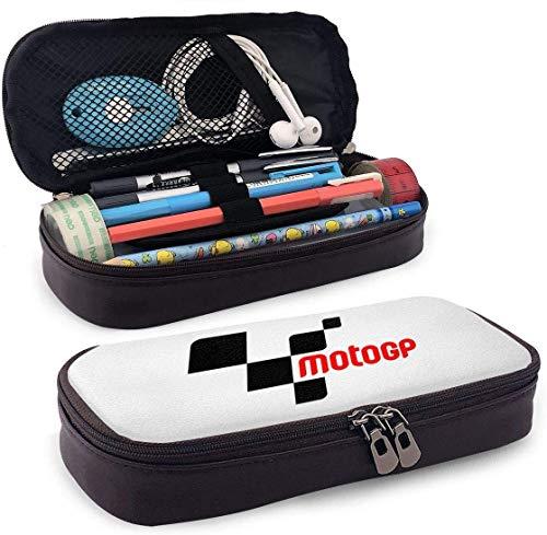 Astuccio portamatite in pelle per bambini Ragazzi Ragazze con cerniera per penne Matite Moto GP