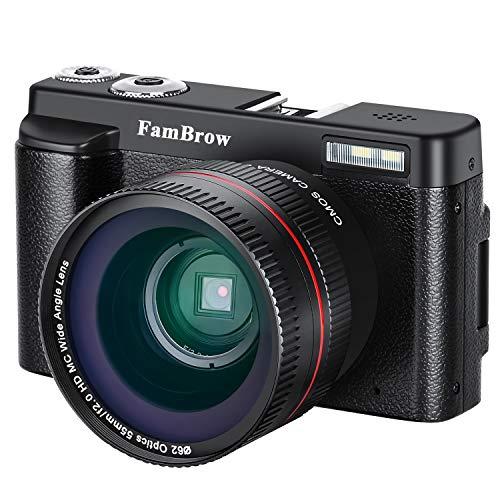Fotocamera Digitale e Videocamera ,FamBrow Full HD 1080P WiFi Camcorder 24MP 16x Zoom Digitale...
