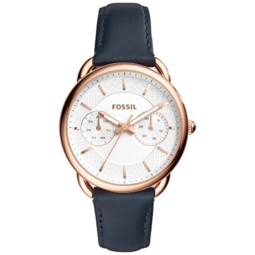 Fossil Womens Analogue Leather Watch_Blue
