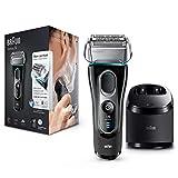 Braun Series 5 5197 Clean&Charge - Afeitadora eléctrica hombre, afeitadora barba, en húmedo y seco, máquina de afeitar barba con recortadora de precisión, negro