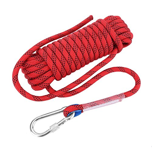 VGEBY Cuerda Escalada, diámetro de 12mm, Color Rojo, 10m
