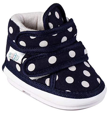 CHiU Chu-Chu Sound Polkadot Printed Navy Blue Shoes for 18-21 Months Baby Boy & Baby Girl