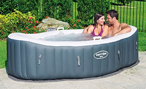 Hands down the best inflatable hot tub for couples! Not only does it fit two people, the canoe-style shape justifies the purpose, allowing you to sit facing each other or even side by side.
