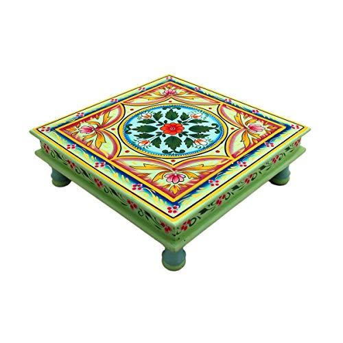 Gall&Zick - Tavolino da salotto decorativo, in legno di mango/legno MDF, dipinto a mano, stile...