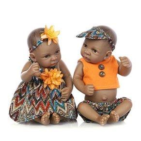 LLX Reborn Baby Doll Mini Simulación Suave Vinilo De Silicona Completa 10 Pulgadas 26 Cm Realista Juguete De La Muchacha…