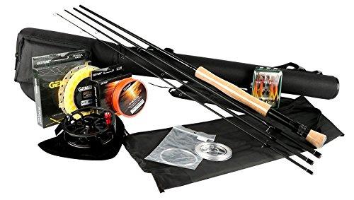 Goture - Kit per pesca a mosca: canna, mulinello a bobina, coda 5/67/8,con mosche e custodia, Classic 7/8 with cork butt cap