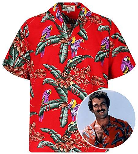 Paradise Found Tom Selleck Red, XS