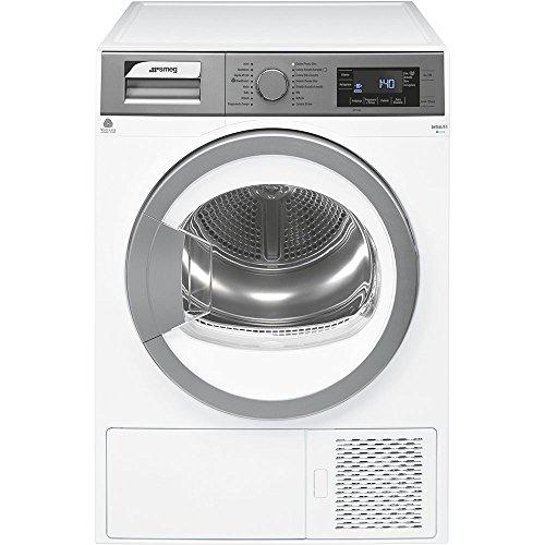 Smeg DHT83LIT-1 Libera installazione Caricamento frontale 8kg A+++ Argento, Bianco asciugatrice