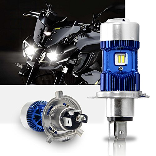 H4 Led Lampadina Kit per Moto - Win Power - H4 Faro per Moto Hi / Lo Beam, Xenon White 6000K 4000Lm...