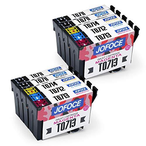 Jofoce Sostituzione per EPSON T0711 T0712 T0713 T0714 T0715 Cartucce d'inchiostro, Compatibile con...