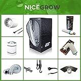 Growset Dark Box 80 ESL Wuchs 120W Blüte 200W Abluft Aktivkohlefilter Grow
