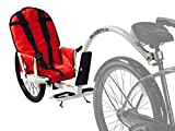 Weehoo Kids' IGO Blast Trailer Tagalong Bike, Red, 1 Year