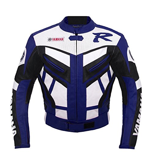 Yamaha Racing Moto Chaqueta de cuero (L (EU52-54) )