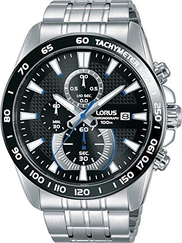 LORUS Orologio Cronografo Quarzo Uomo con Cinturino in Acciaio Inox RM383DX9