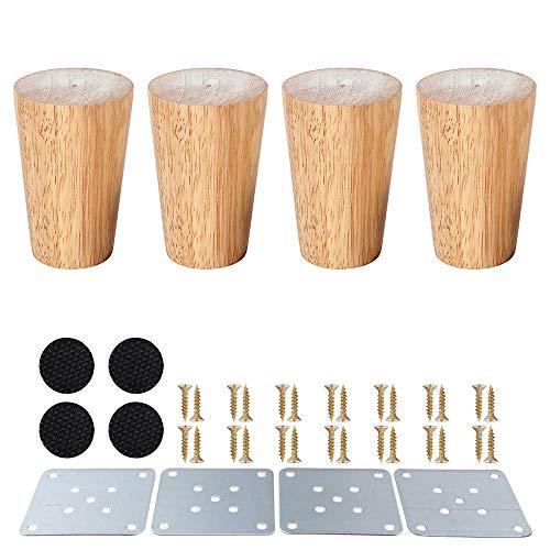 Gambe mobili in legno,piedini in legno per armadietti e tavolini per TV cabinet divano letto tavolo...
