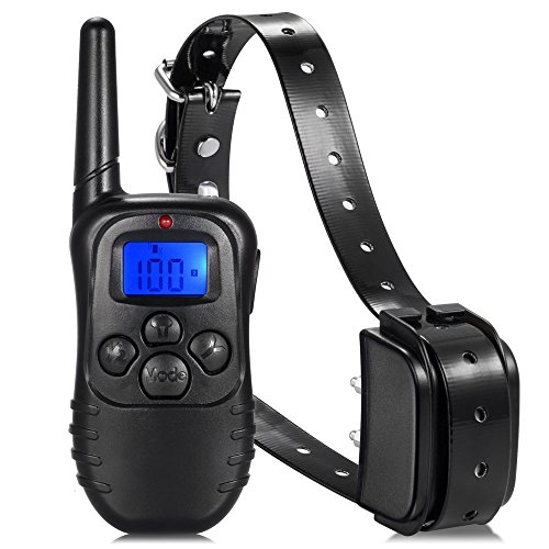 Generic only one collar : 300M Remote Dog Training TPU Collar Rechargeable And Waterproof Vibration Shock Electronic Electric 100Level Anti Bark Control