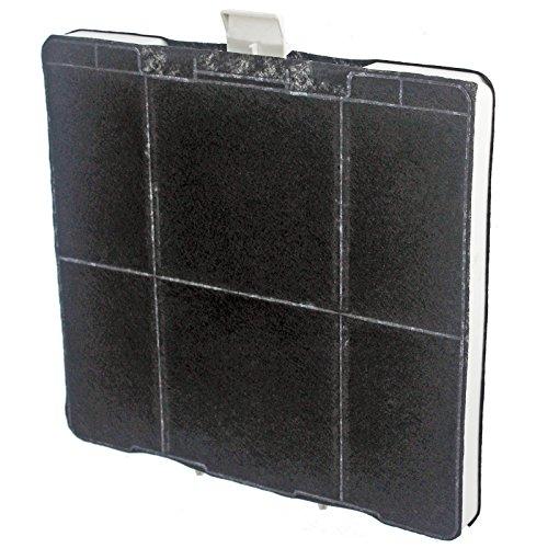 Spares2go - Filtro al carbone quadrato Siemens per la ventola della cappa dell'aspiratore.