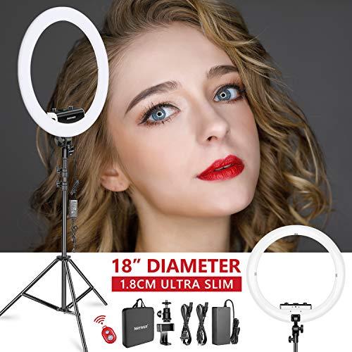 Neewer Ring Light Kit [1,8cm Ultra Fin] Anneau Lumineux 48 cm, 3200-5600K, Lumière Anneau à Intensité Réglable avec Pied, Porte-Smartphone, ... 22