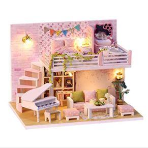 tytlmodel Sakura'S DIY Doll Houses, Casa De Muñecas De Madera Hecha A Mano En Miniatura, con Kit De Muebles Y Juguetes…