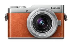 Panasonic Lumix DC-GX800 - Cámara Digital 12-32/3.5-5.6 Vario ASPH Mega O.i.s, Color Naranja y Gris