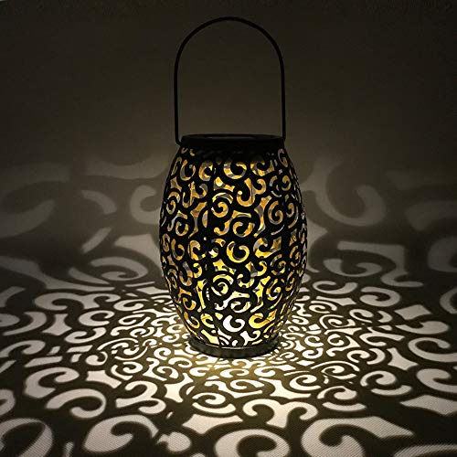 WZTO Lanterna solare,le luci solari marocchina Silhouette appendere le luci IP44 Impermeabile LED...