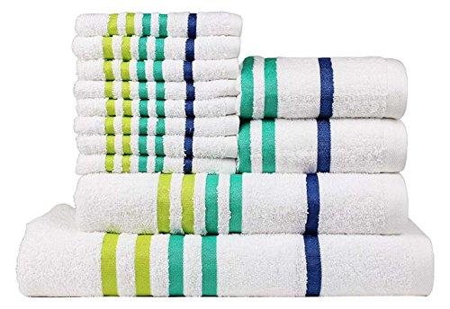 Casa Copenhagen Exotic Collezione - Set di 12 asciugamani da bagno mani-viso in cotone, qualità 475...