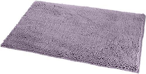 AmazonBasics - Tappeto da bagno in microfibra, a pelo lungo, antiscivolo, 0,53 x 0,86 m, Lavanda