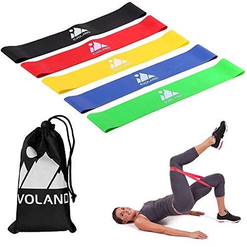 EVOLAND Elastici Fitness Resistenza, AGM Elastiche Fitness Banda Elastica di Lattice Naturale Fasce...