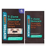 T-Zone Charcoal and Tea Tree Ultra Cleansing Nose Pore Strips - Pack of 6 by T-Zone