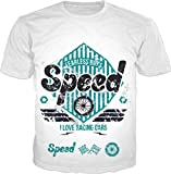 100ANB - (DRM-MBK-RACG-3-10-P) I LOVE RACING CARS - SPEED VINTAGE - RALLY CLUB BIKER RACE MOTOR BIKE MOTO F1 RIDE CYCLE MOTOCROSS MOTORCYCLE USA FLAG ROAD - GRAPHIC PRINTED DRIFIT DRYFIT MICRO POLYESTER ROUND NECK T-SHIRT TEE TSHIRT, SIZE : LARGE (42)