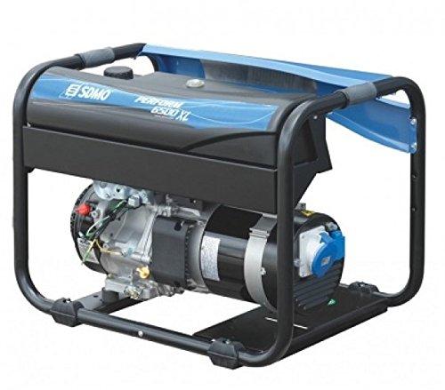 SDMO PERFORM 6500 XL Grupo Electrógeno Monofásico Profesional, Gama Perform, Máxima Autonomía, Motor Kohler, 6500 W