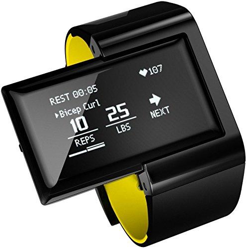 Atlas Wearables Men's Wristband 2: Digital Trainer + Heart Rate Band (Black)