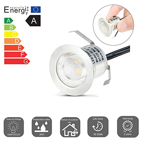 12x spots led encastrable ext rieur ip67 acier inoxydable for Lampe led pour exterieur