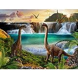 Tapisserie Photo Dinosaure 352 x 250 cm Laine papier peint Salon Chambre Bureau Couloir décoration Peinture murale décor mural moderne - 100% FABRIQUÉ EN ALLEMAGNE - 9191011a