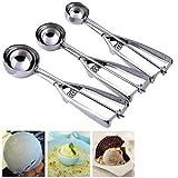 Bestland 3pcs acero inoxidable 4/5/6cm cuchara para helado & Galleta Mash Alimentación Cuchara Cocina