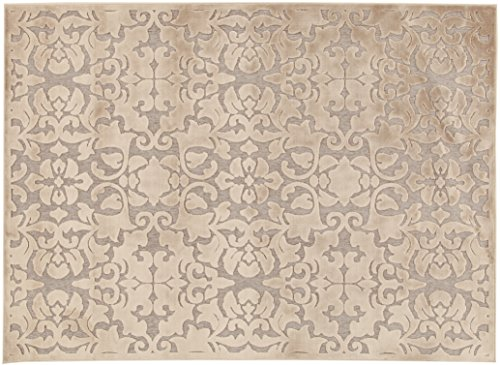 Viva Tappeti Florentine Baroque Tappeto, Ciniglia, Tortora, 60x120x2 cm