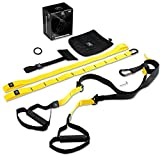 PRO Schlingentrainer, Suspension Trainer Fitness System mit Suspension Trainingsband + Aufhängung Anker+ Türanker