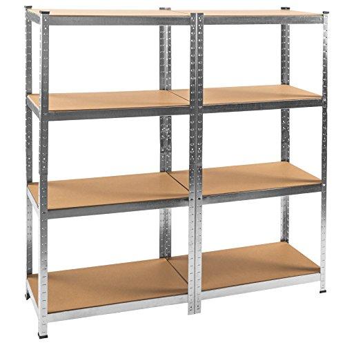 TecTake Scaffale da officina armadio magazzino garage - modelli differenti - (con 8 ripiani | no....