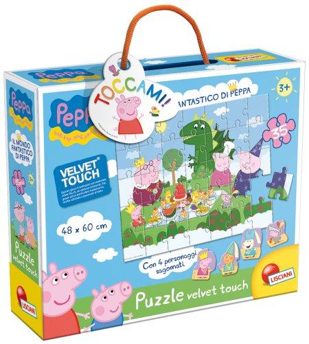 Liscianigiochi - 43385 Puzzle Velvet Touch Il Mondo Fantastico di Peppa