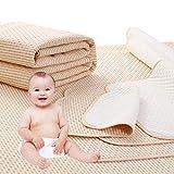 4 Lagen Wasserdicht Atmungsaktiv Inkontinenzauflage Bettunterlage für Baby Kinder Erwachsene Dry Night Matratzenauflage (50 * 70cm)