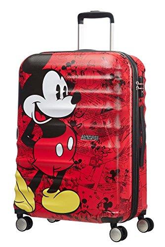 American Tourister Disney Wavebreaker, Valigia , Multicolore (Mickey Comics Red), 64 liters, M...