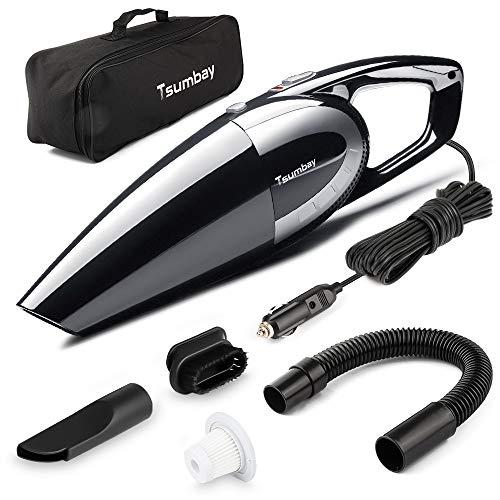 Tsumbay Aspirapolvere per Auto, 12V CC 120W 5000PA Aspirabriciole Multifunzione Portatile Bagnatp e...