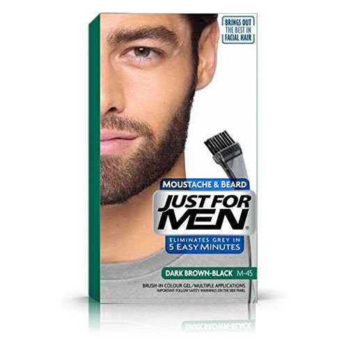Just For Men Brush In Colour Gel Dark Brown (M45) Facial Hair Colour