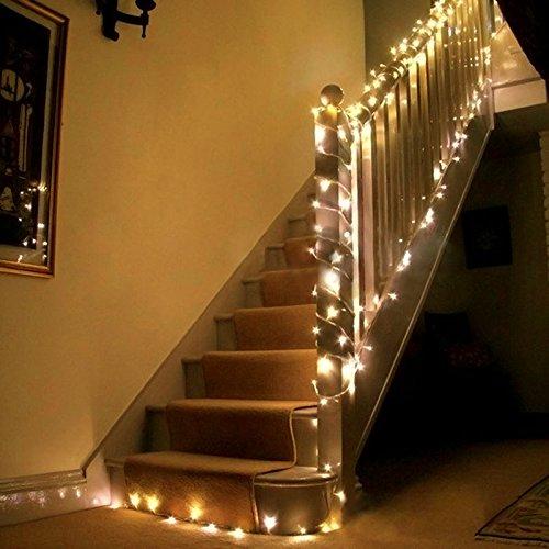 Uping Strisce LED, Luce Calda Bianca,22 Metri, Impermeabile, 200 Singoli LED, Decorativa da Interni...