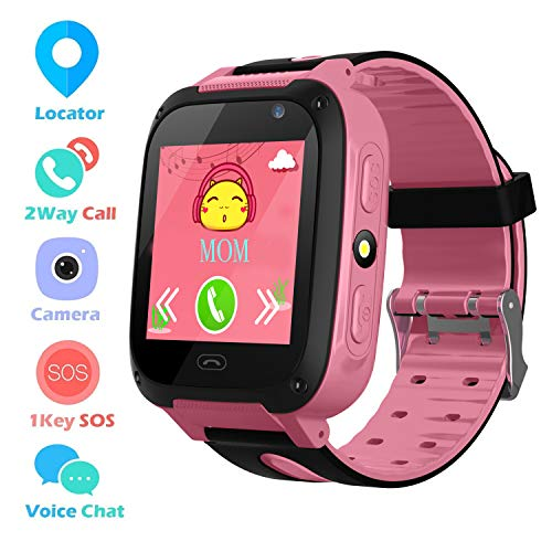 Kids Smart Phone Watch per 3-12 anni Boys Girls GPS / LBS Tracker Touch Screen SOS gioco telecamera...